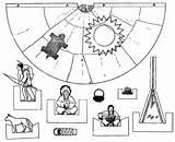 Indian Cut Paper Indians Wigwam Dolls sketch template