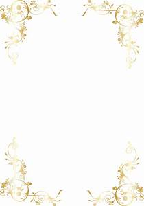 1 sheet EMBOSSED SWIRL CORNERS LUXURY VELLUM GOLD ON