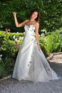 robe mariee blanche et grise mariage toulouse With robe de mariée grise