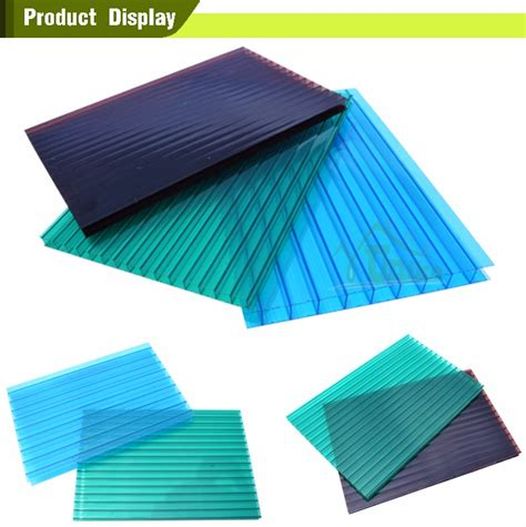 low price colored hollow lexan polycarbonate sheet for
