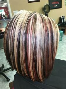 Highlights ,blonde ,red,and brown hair by Victoria Sylvis ...