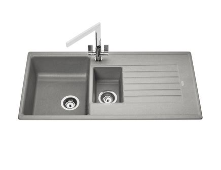 grey sink kitchen lamona grey granite composite 1 5 bowl sink howdens joinery 1508