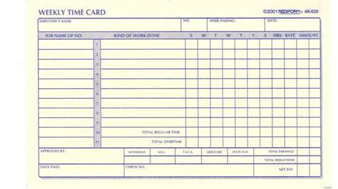 Time Card Template Time Card Template Template Business