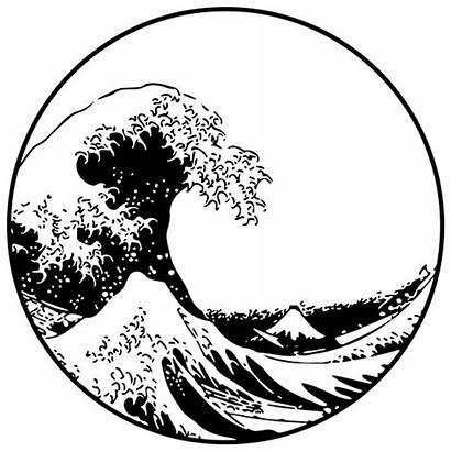 Wave Kanagawa Drawing Japanese Redbubble Waves Japan