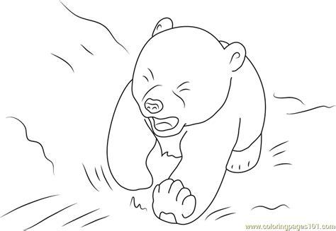 polar bear lars crying coloring page