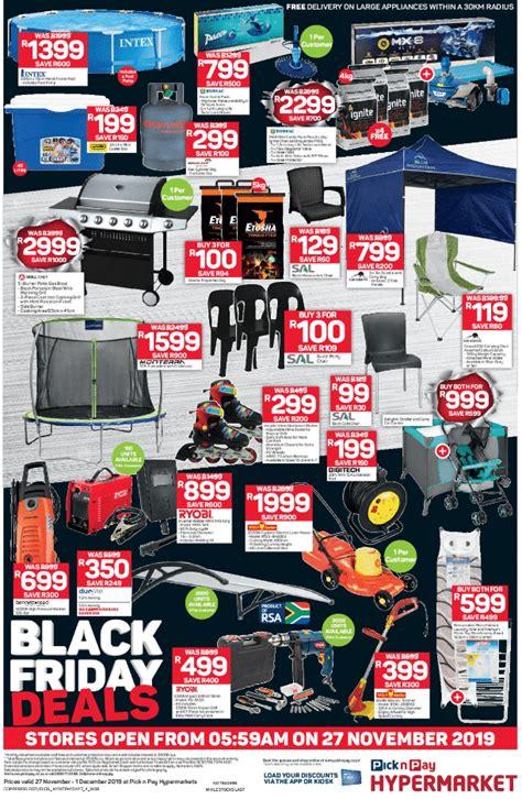 pick  pay black friday deals specials