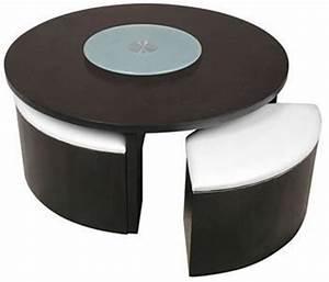 Table Basse Pouf Intégré : table basse avec poufs integres pas cher maison et meuble de maison ~ Dallasstarsshop.com Idées de Décoration