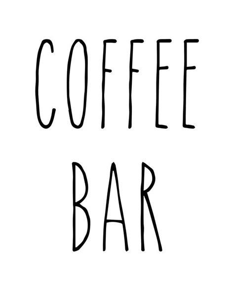 rae dunn printable coffee bar signs dunn coffee