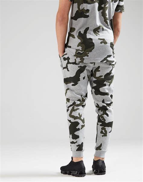 lyst nike camo fleece pants  gray  men