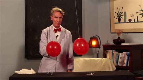 Bill Nye The Science Guy Performs A Static Electricity Science Demonstration Youtube