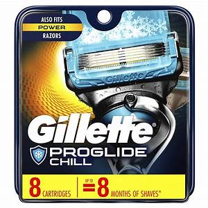 Gillette Proglide Chill Men S Razor Blades  8 Blade
