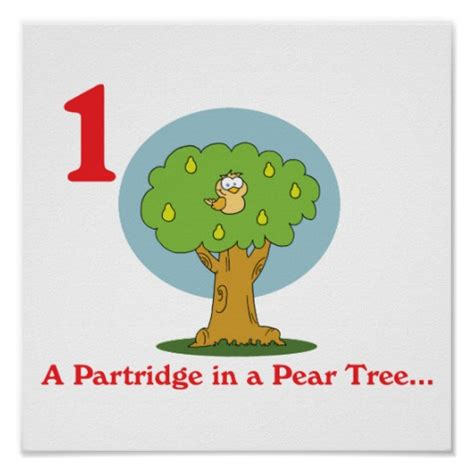 12 days partridge in a pear tree poster zazzle