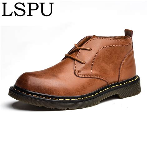 High Quality Genuine Leather Men Boots Lace
