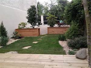 terrasse jardin de ville With idee amenagement jardin de ville