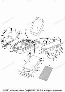 Yamaha Boat 2013 Oem Parts Diagram For Deck Hatch 1