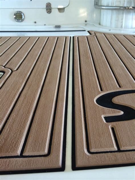 Non Skid Boat Decking by Replacing Synthetic Deck Material With Seadek