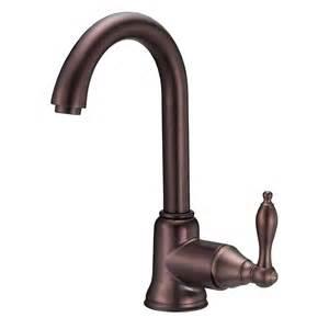 danze kitchen faucet reviews shop danze fairmont rubbed bronze 1 handle kitchen faucet at lowes