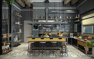 20 Marvelous Industrial Kitchen Design That Will Make You