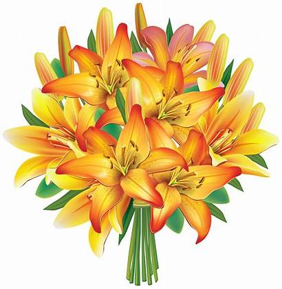 Bouquet Yellow Flowers Flower Clip Clipart Roses