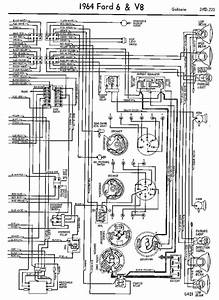 Wiring Diagrams Of 1964 Ford 6 And V8 Galaxie Part 2  60188