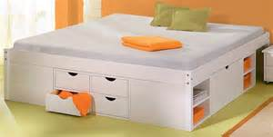 Queen Platform Storage Bed 12 Drawers