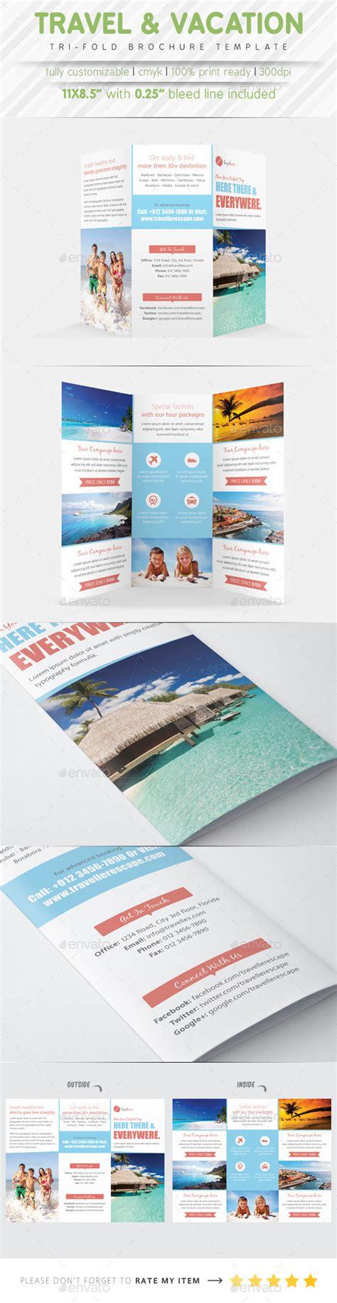Travel Brochure Template 3 Fold by Travel Agency 3 Fold Brochure Bundle 187 Dondrup