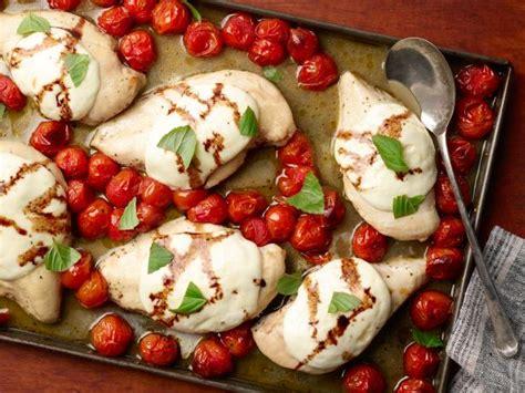 sheet pan caprese chicken recipe food network kitchen