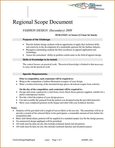 scope document 8 scope of work documentreference letters words reference letters words
