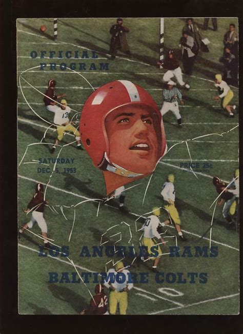 nfl program los angeles rams  baltimore colts ebay