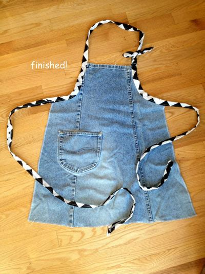 diy apron  recycled jeans wiser living mother