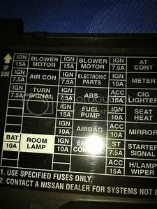 Fuse Box Diagram For 96 Nissan Pickup