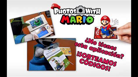 Generar el código qr de páginas web en formato de archivo svg. Vistazo y Sorteo de Códigos EUR: Photos With Mario - 3DS ...