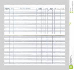 Free Printable Blank Check Register for Checkbook