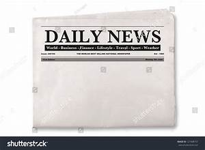 Mock Up Of A Blank Daily Newspaper With Empty Space To Add ...