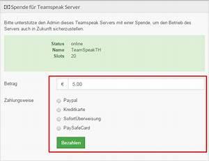 Paypal Rechnung Bezahlen : spenden f r deinen teamspeak server ts coach ~ Themetempest.com Abrechnung