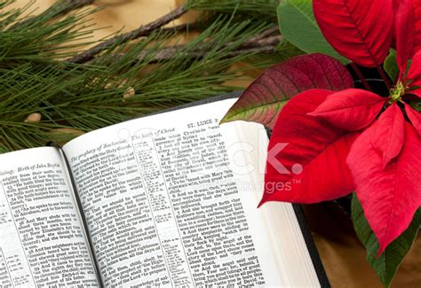 christmas bible passage  decorations kjv stock