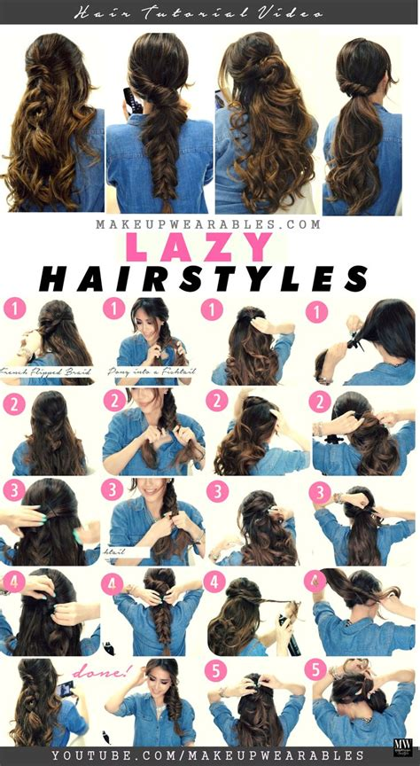 easy lazy hairstyles  cold weather  minute hair