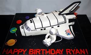 Space Inspired Birthday Cake. Space Shuttle and Astronauts ...