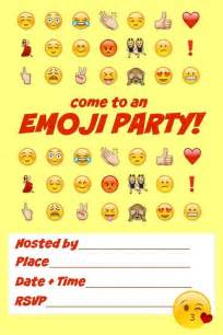 Emoji Party Invitations Printable