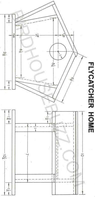 printable bird house plans build  flycatcher bird house   plans bird houses bird