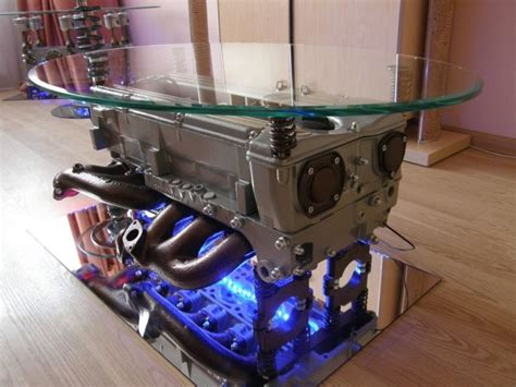 Top Gear Coffee Table With An Engine From Mercedes-benz To
