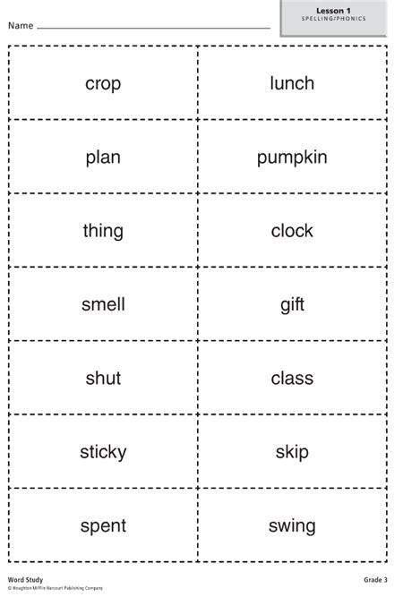 lowe  grade spelling lists