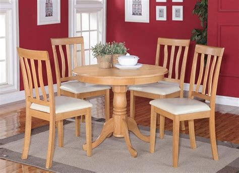 light oak kitchen table and chairs 5pc dinette kitchen dining set table with 4 faux leather