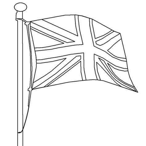 coloriage drapeau angleterre carte
