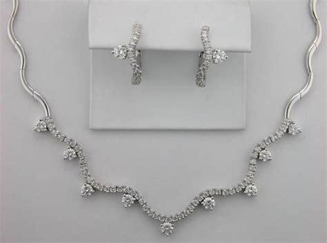 3.80 Ct. Diamond 14k White Gold Wedding Ceremony Necklace