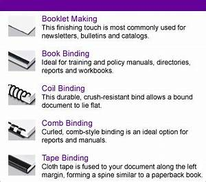 Online printing copy print pack and ship fedex office for Document binding options