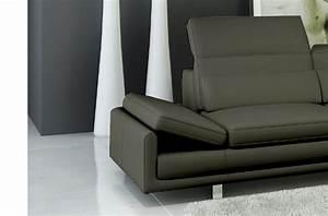 Canape Angle 6 7 Places : canap d 39 angle en cuir italien 6 7 places izen gris fonc azur mobilier priv ~ Maxctalentgroup.com Avis de Voitures