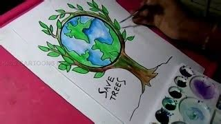 draw save trees  save nature color drawing