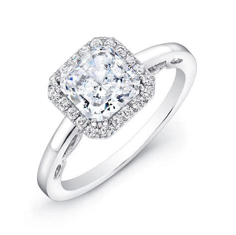 18k white gold scalloped detail gallery diamond halo