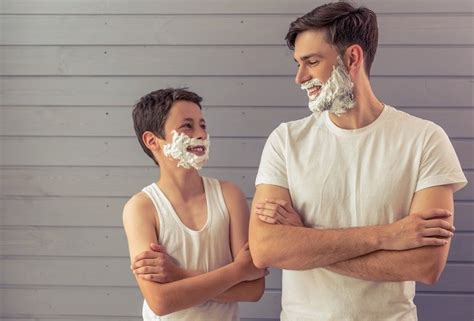 electric shaver teenager boys time shave